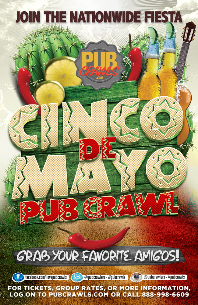 8th Annual Cinco de Mayo Pub Crawl Boston [Faneuil Hall]