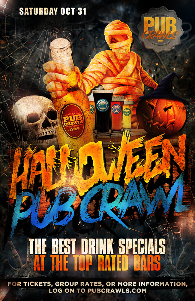Fright Night HalloWeekend Pub Crawl Houston
