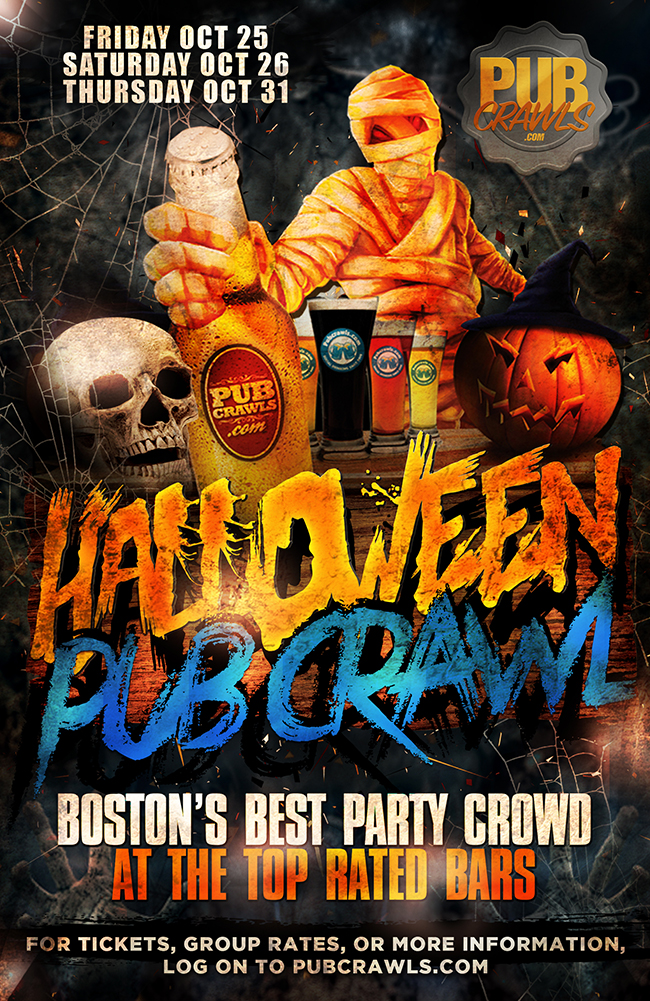 Happy Hour Halloween Pub Crawl Boston (Faneuil Hall)