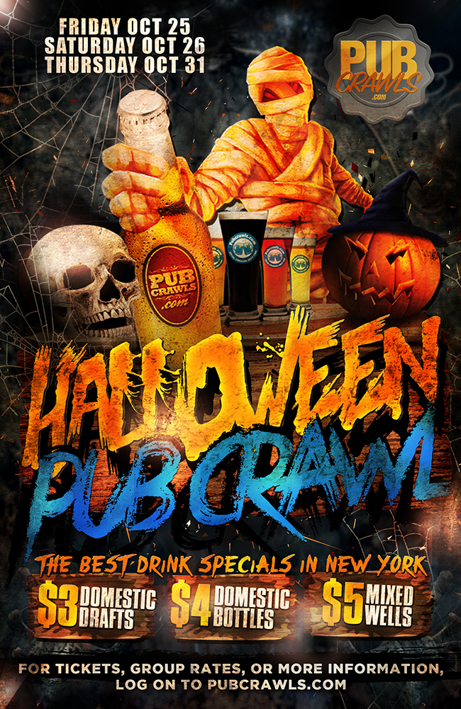 Happy Hour Halloween Pub Crawl NYC