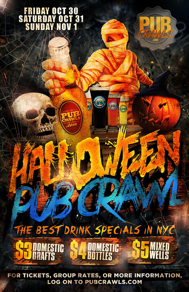 New York City HalloWeekend Pub Crawl Events