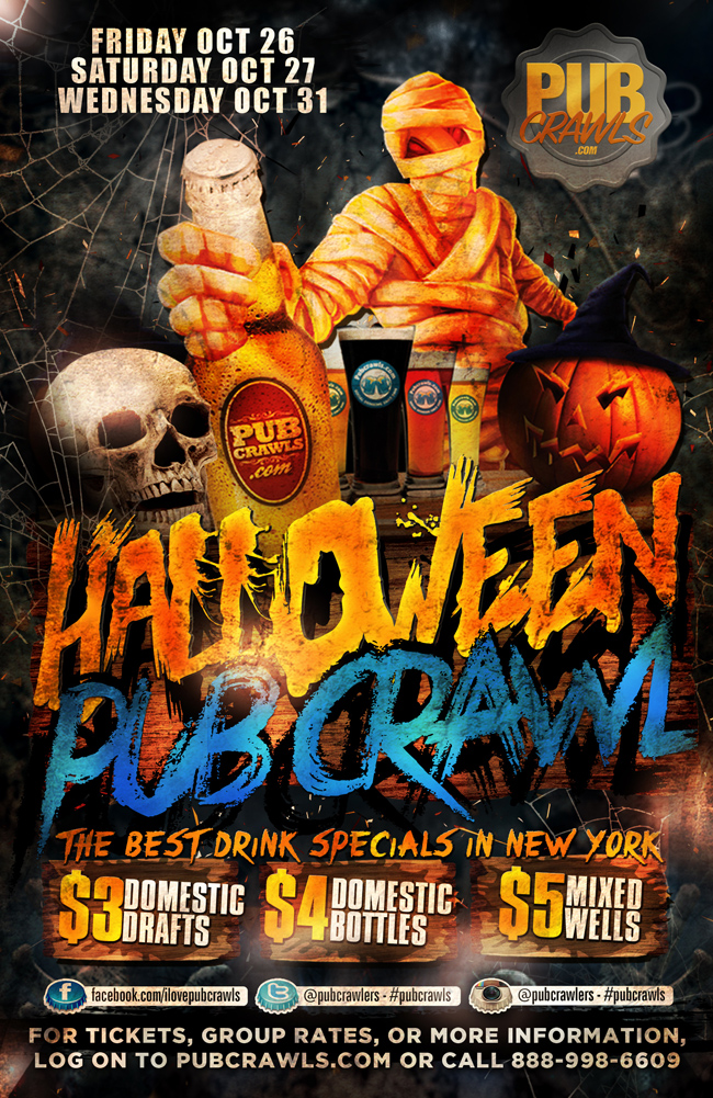 New York City Halloween Pub Crawls