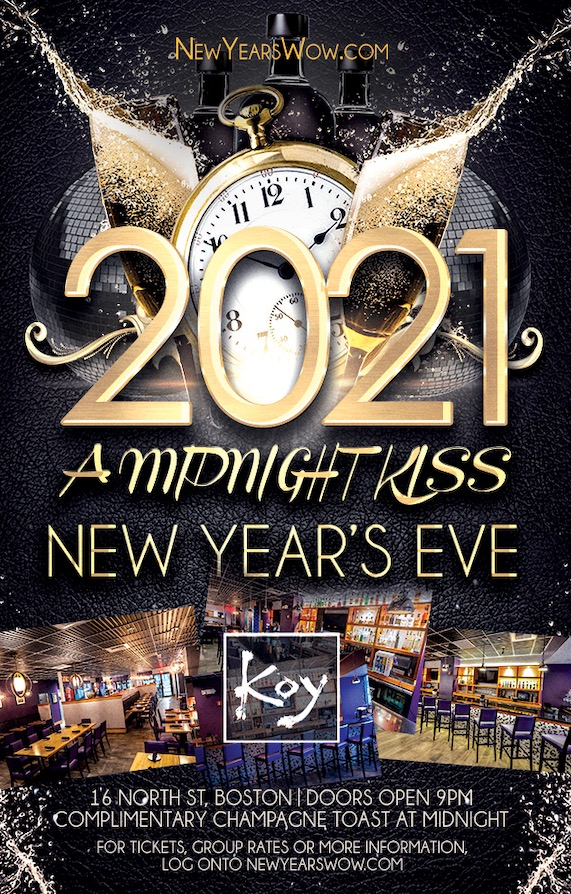 """""""A Midnight Kiss"""" New Year's Eve at Koy"""