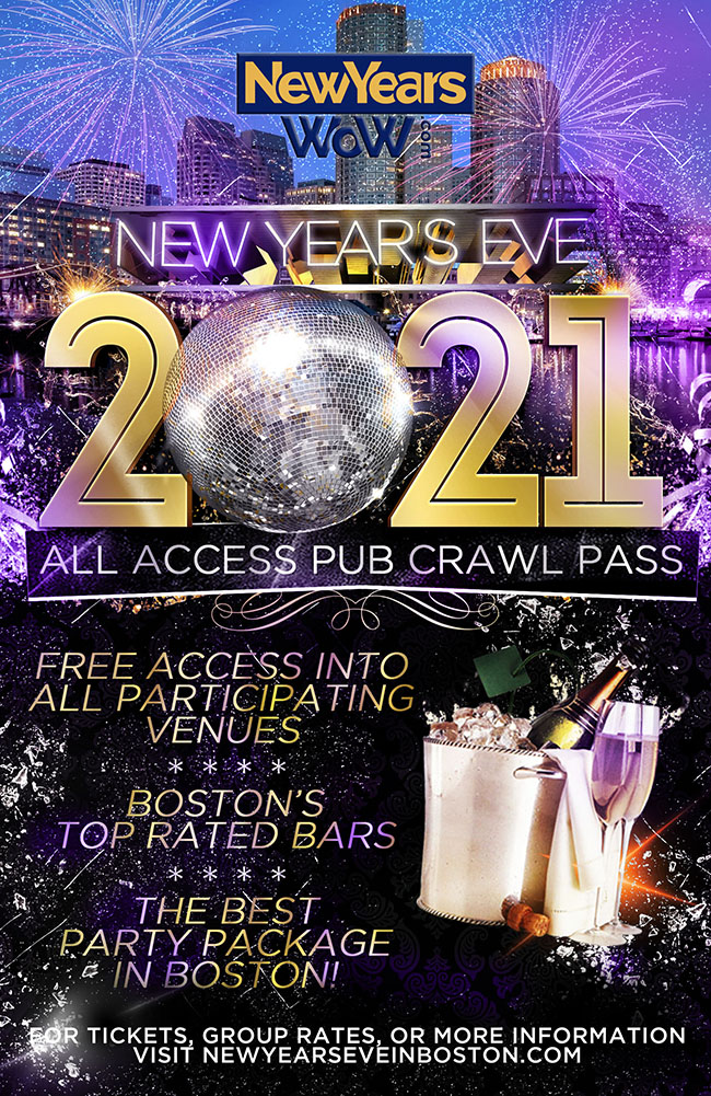Boston New Year's Eve All Access Pub Crawl Pass