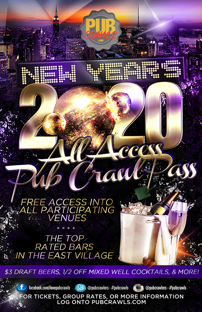 All Access Pub Crawl Pass  New York City New Year's Eve