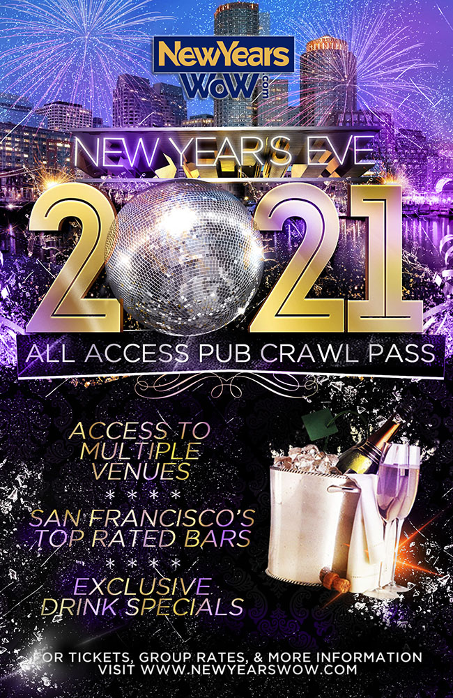 San Francisco NYE All Access Bar Crawl Pass