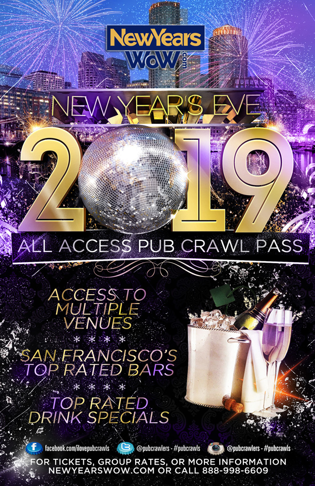 San Francisco New Year's Eve All Access Pub Crawl