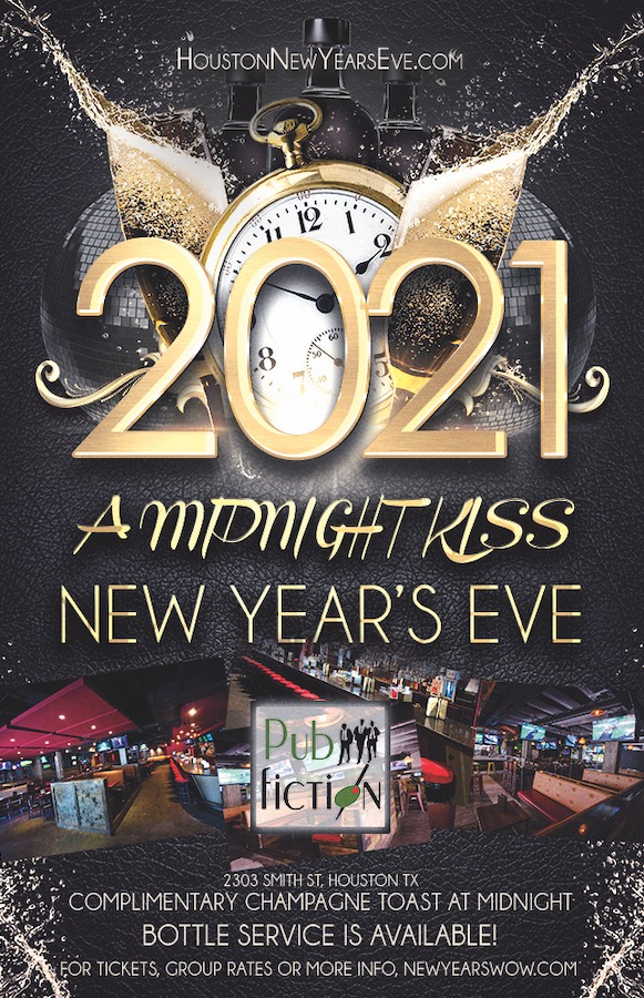 """""""A Midnight Kiss"""" New Year's Eve at Pub Fiction"""