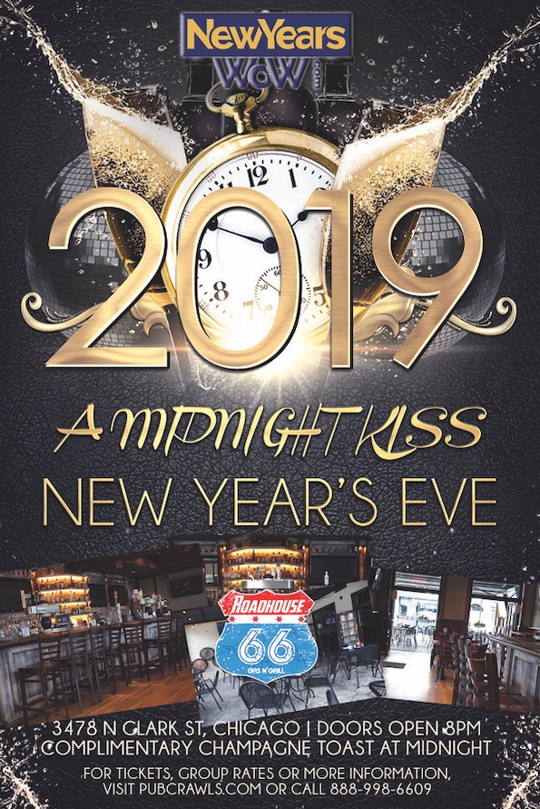 "3rd Annual ""A Midnight Kiss"" New Year's Eve at Roadhouse 66"