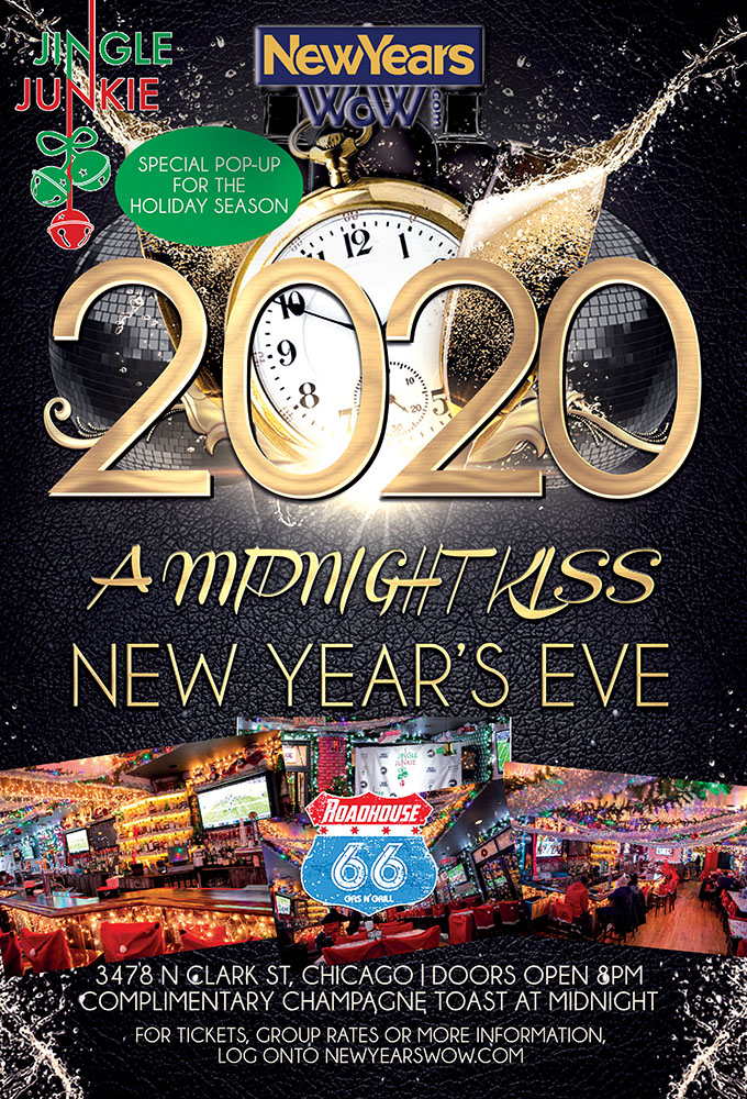 "4th Annual ""A Midnight Kiss"" New Year's Eve at Roadhouse 66"