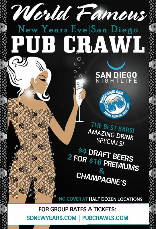 San Diego New Year's Eve All Access Pub Crawl