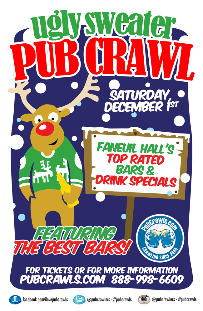 5th Annual Ugly Sweater Pub Crawl Boston [Faneuil Hall]