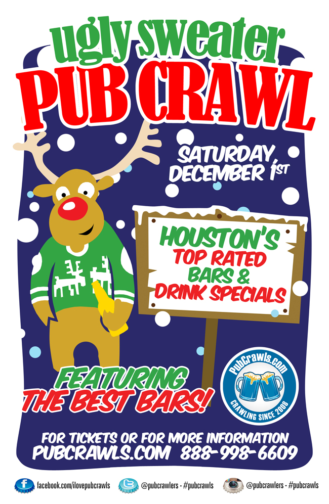 Houston Ugly Sweater Pub Crawls