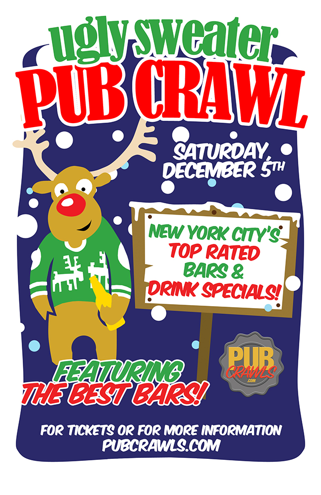 9th Annual Ugly Sweater Pub Crawl New York City
