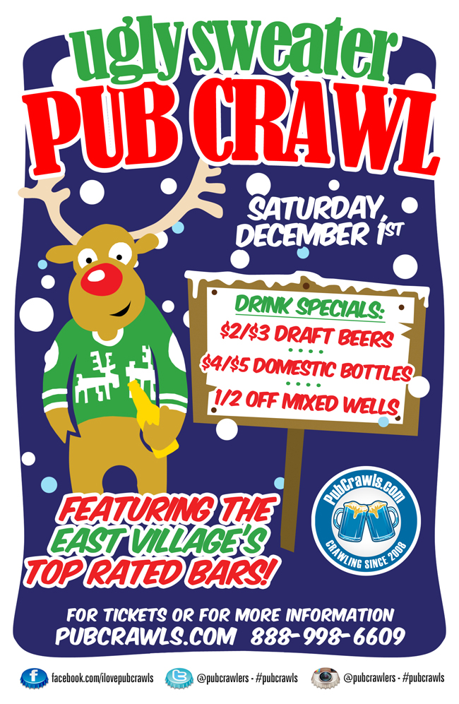 8th Annual Ugly Sweater Pub Crawl New York City