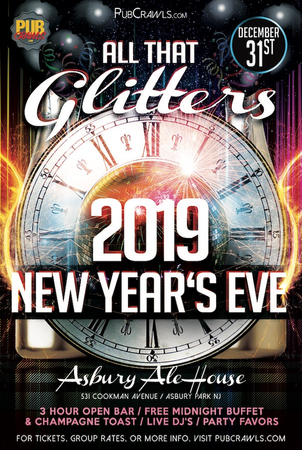 """""""All That Glitters"""" New Year's Eve at Asbury Ale House"""