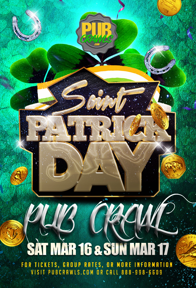 Luck of the Irish St Paddy's Pub Crawl San Diego