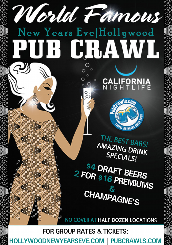 Hollywood New Year's Eve All Access Pub Crawl
