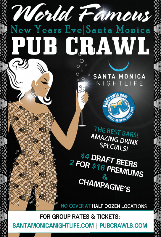 Santa Monica New Year's Eve All Access Pub Crawl