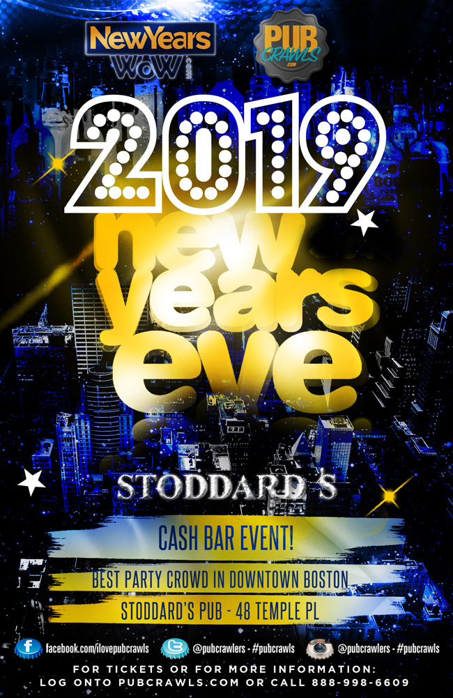 Stoddard's Pub Boston NYE 2019