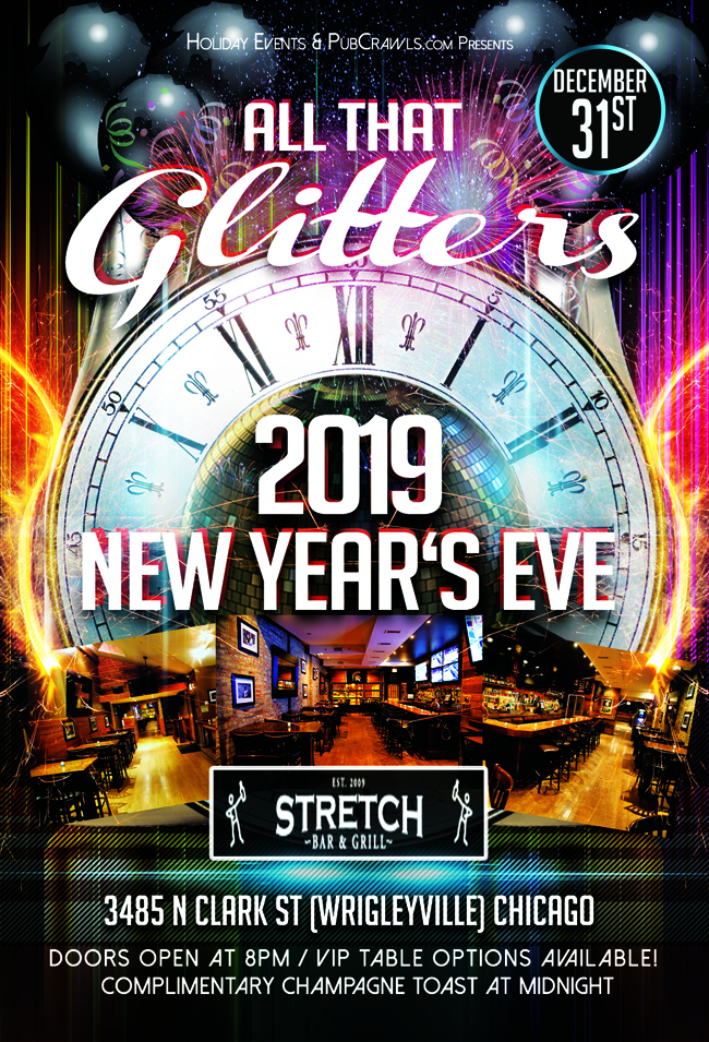 """All That Glitters"" New Year's Eve at The Stretch Bar"