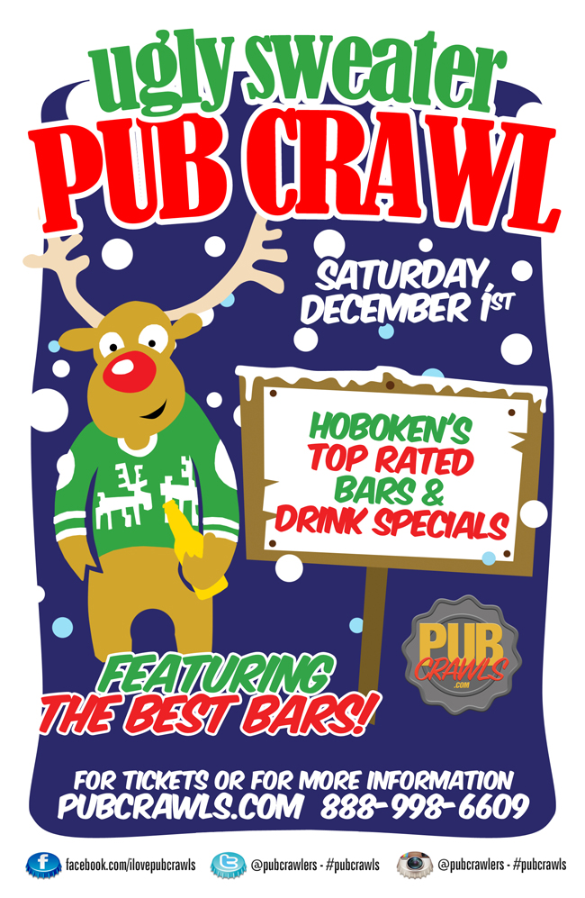Ugly Sweater Pub Crawl Hoboken