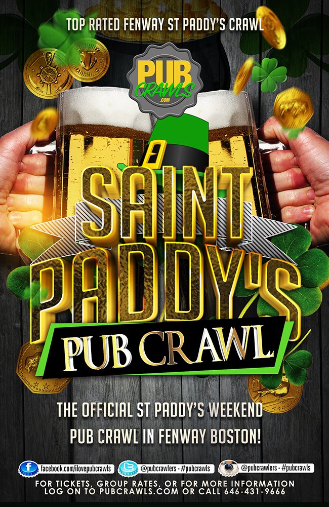 Official St Patrick's Day Pub Crawl Boston [Fenway]