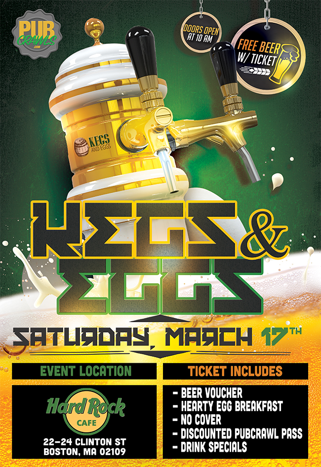 2nd Annual St. Paddy's Day Rockin Kegs'n Eggs at Hard Rock Cafe