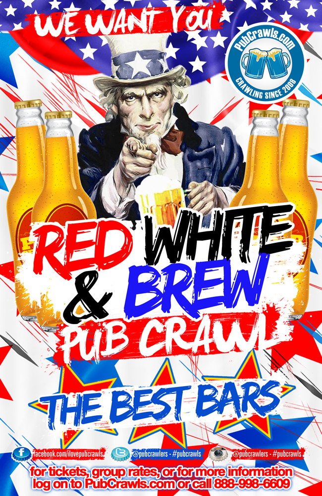 Red, White, & Brew, Pub Crawls Boston
