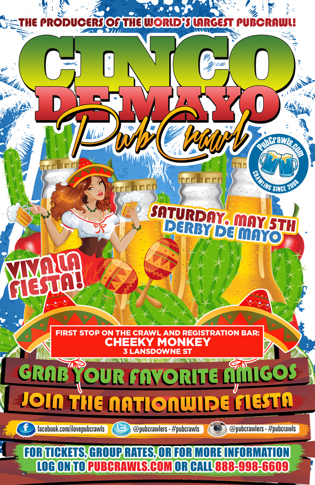 3rd Annual Derby de Mayo Pub Crawl Boston [Fenway]