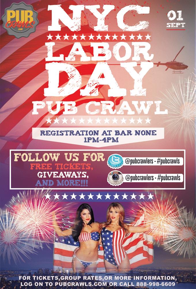 Labor Day Weekend Pub Crawl New York City