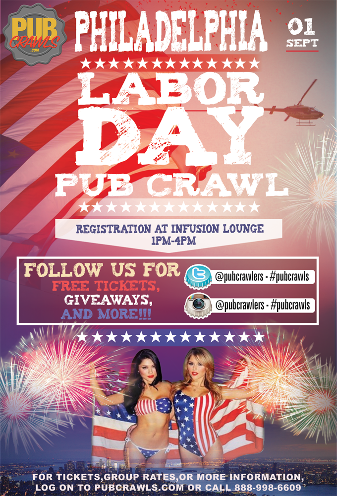 Labor Day Weekend Pub Crawl Philadelphia