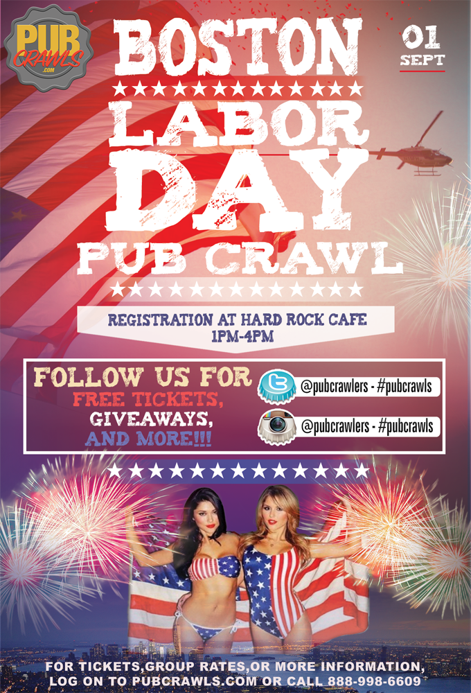 Labor Day Weekend Pub Crawl Boston