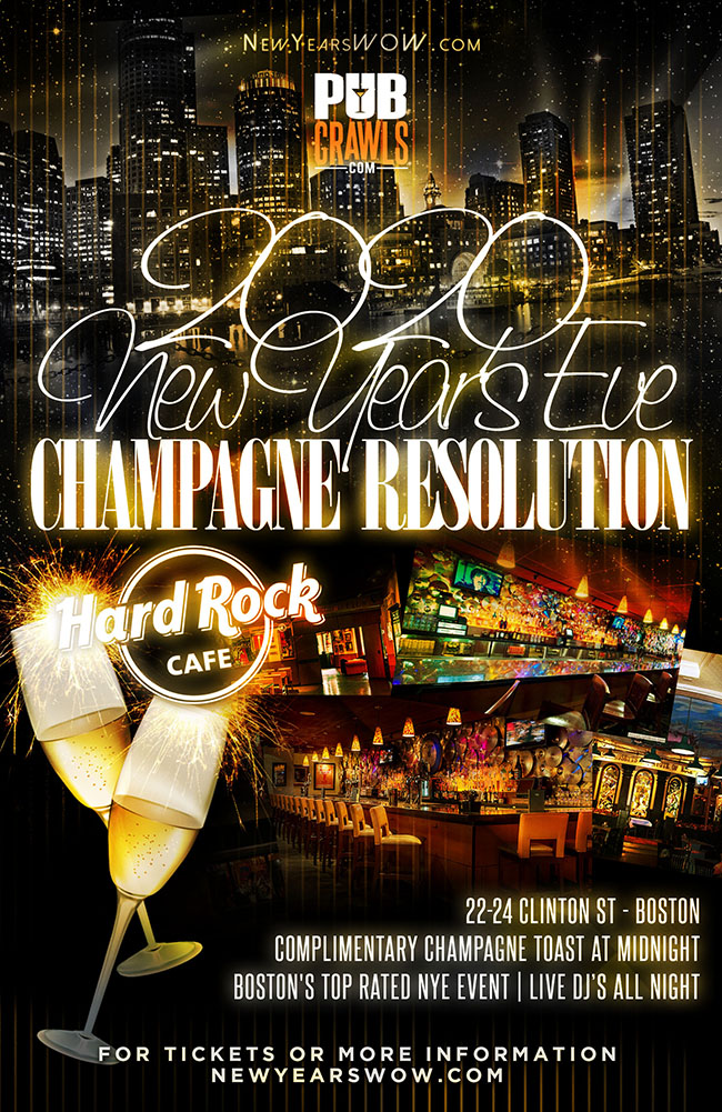 "Hard Rock ""Champagne Resolution"" NYE 2020"