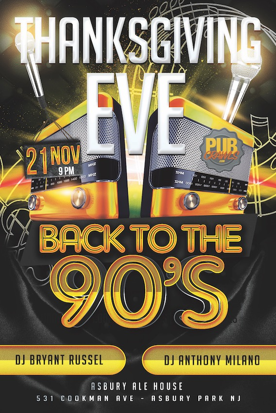 Back to the 90's Neon Lights Thanksgiving Eve