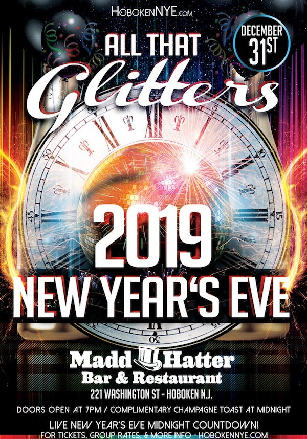 """All That Glitters"" New Year's Eve at Madd Hatter"