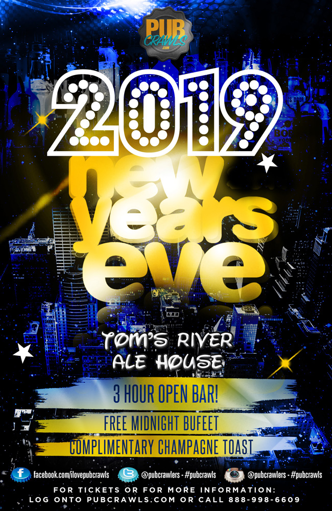 Tom's River Ale House NYE 2019
