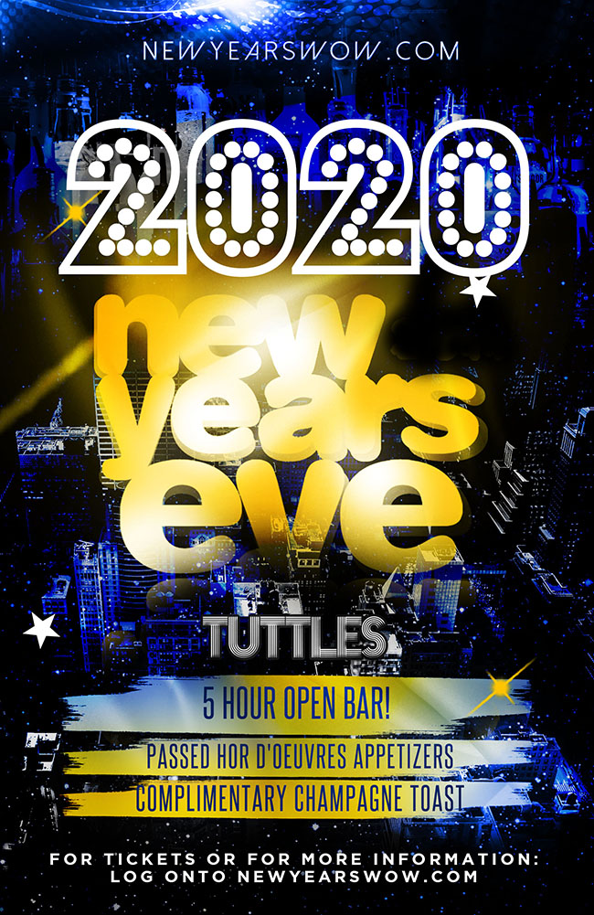 Tuttles New York City NYE Celebration 2020