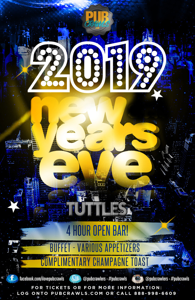 Tuttles New York City NYE Celebration 2019
