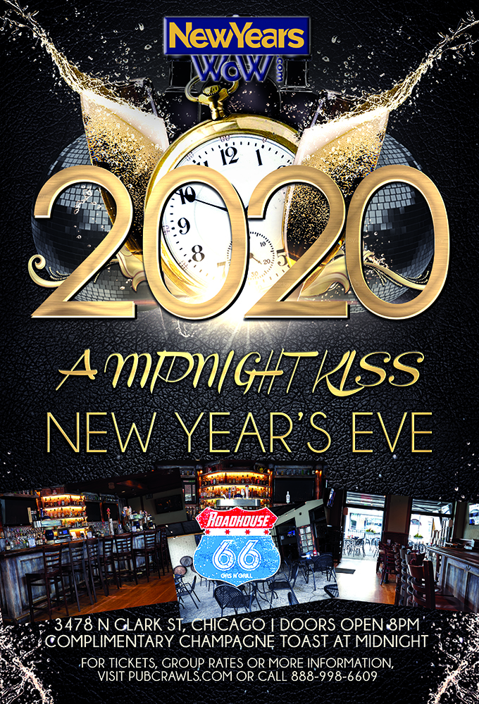 """4th Annual """"A Midnight Kiss"""" New Year's Eve at Roadhouse 66"""