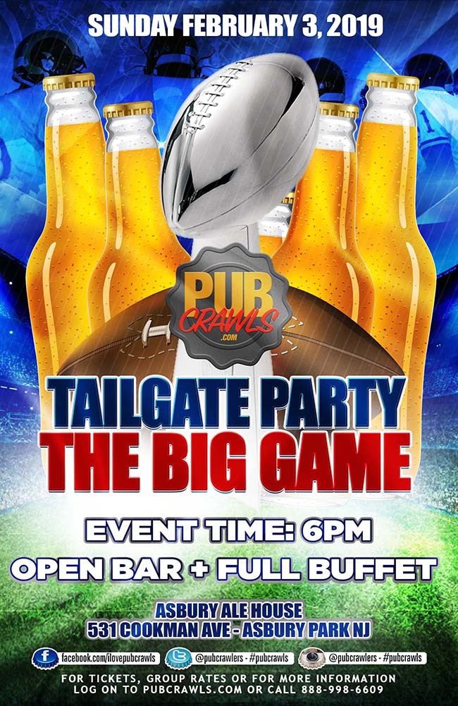 Asbury Ale House Big Game Indoor Tailgate