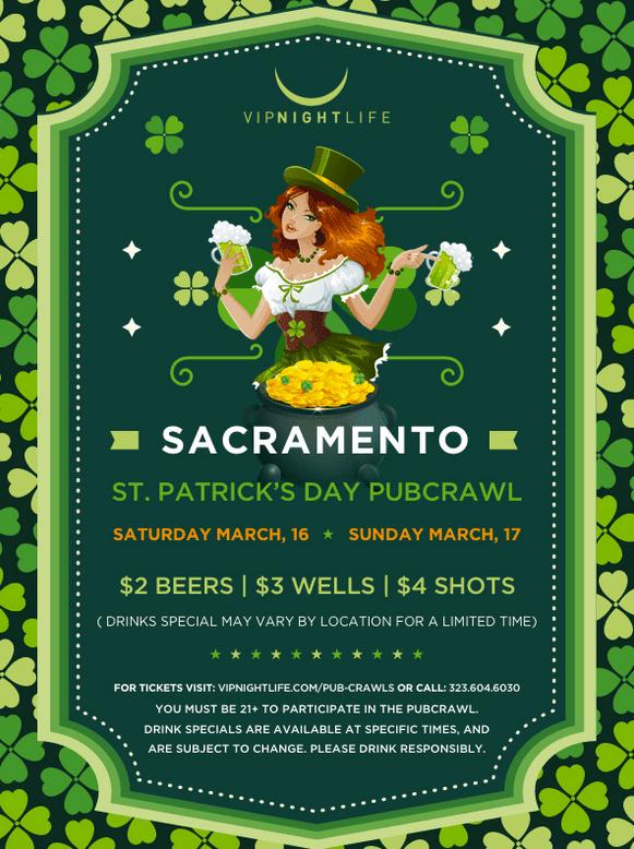 Sacramento Saint Paddy's Pub Crawls