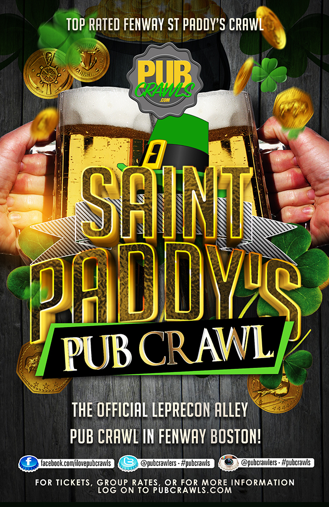 LepreCon Alley St Paddy's Pub Crawl Boston [Fenway]