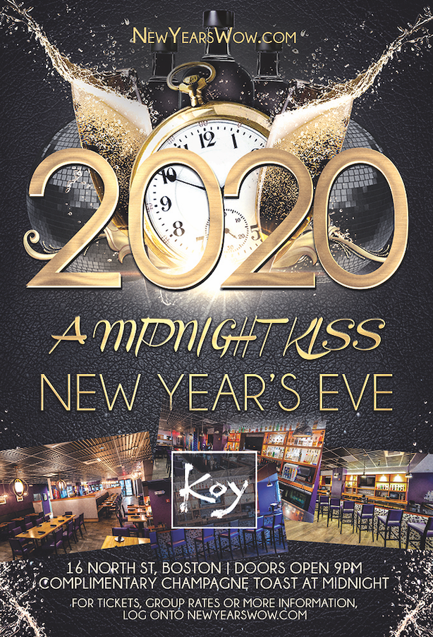 "5th Annual ""A Midnight Kiss"" New Year's Eve at Koy"