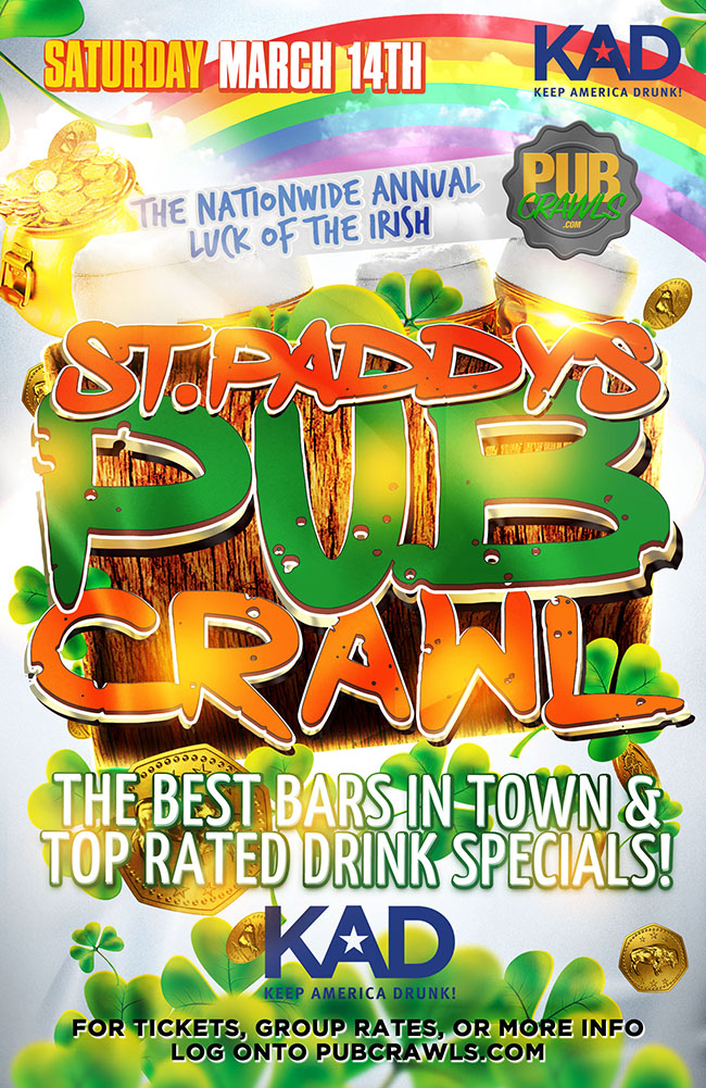Houston Saint Paddy's Pub Crawls