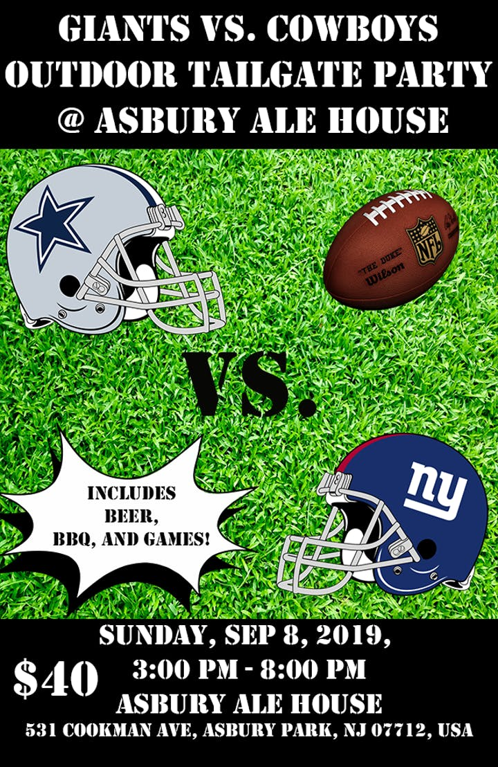 Giants vs. Cowboys Outdoor Tailgate Party