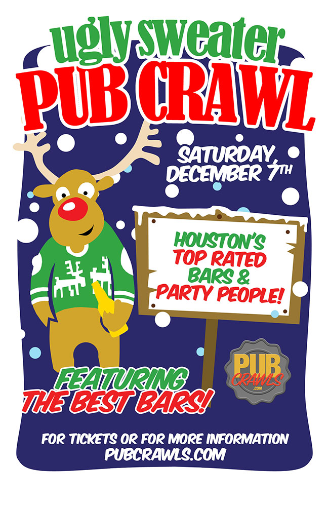 4th Annual Ugly Sweater Pub Crawl Houston