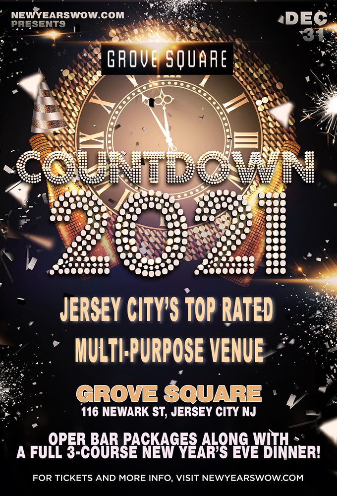 Grove Square Jersey City NYE Dinner 2021