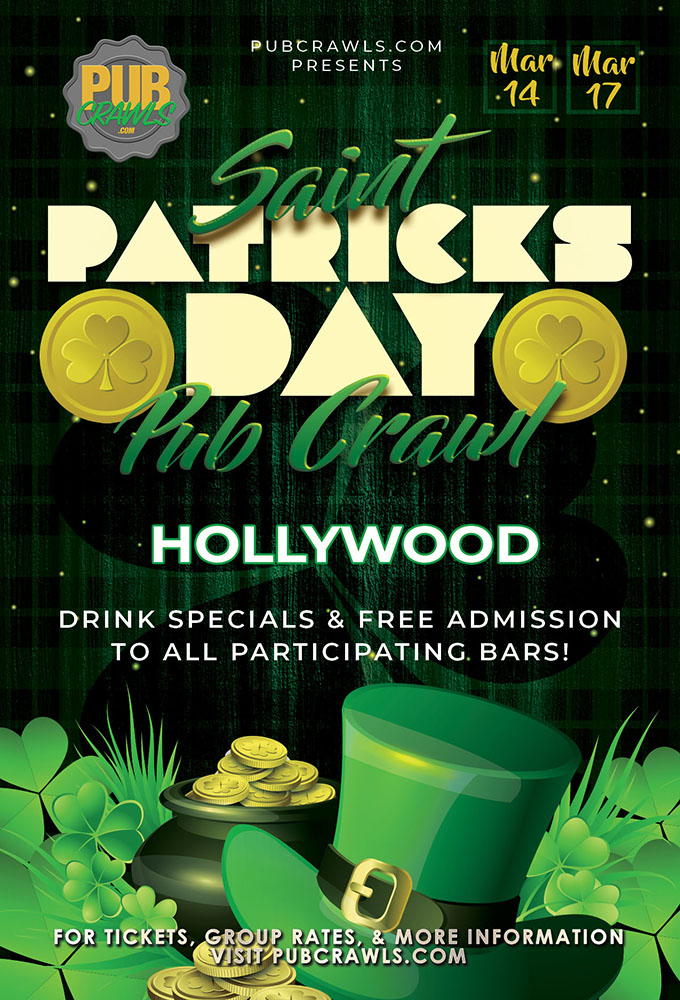 Hollywood Saint Paddy's Pub Crawls