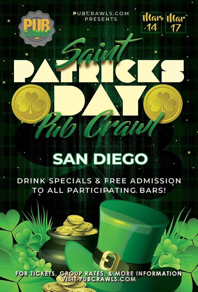 San Diego Saint Paddy's Pub Crawls